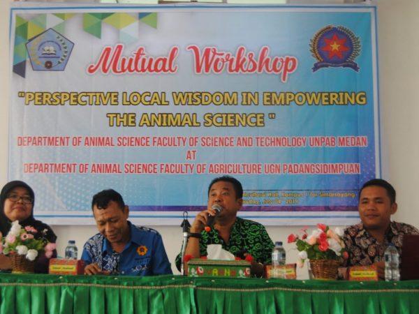 Workshop Kolaborasi Prodi Peternakan UGN Padangsidimpuan dengan Prodi Peternakan UNPAB Medan; Potensi Kearifan Lokal dalam Sektor Peternakan